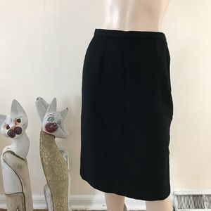 Vintage 60s Pendleton Black Wool Pencil Skirt XS/S